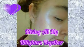 Mixing all my Hilighters together | Molly ParkerSykes