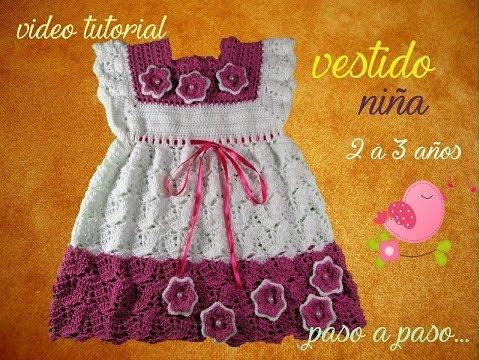 Video Tutorial Paso A Paso Vestido Niña Crochet Step By