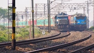 Humsafar Express ruthlessly overtaking Freight Train hauled by WAG 7 || Indian Railways