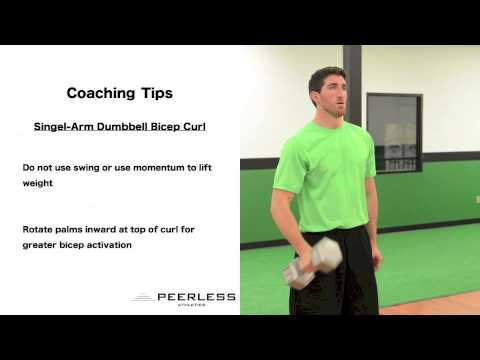 396. Single Arm Dumbbell Bicep Curl