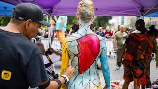 Bodypainting-Day in New York