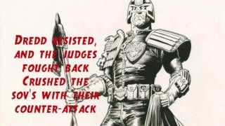 Anthrax- I am the law (Lyrics) comic music video