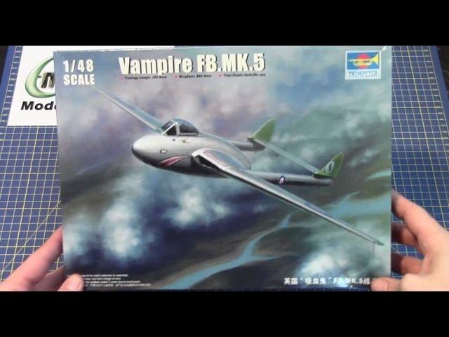 Trumpeter 02874-1:48 Vampire F.MK.5 Neu