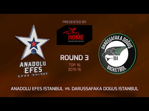 Highlights: Top 16, Round 3, Anadolu Efes Istanbul 84-71 Darussafaka Dogus Istanbul