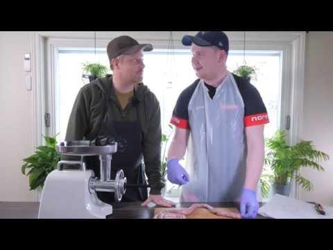 Brecom BK-1200 kjøttkvern - film på YouTube