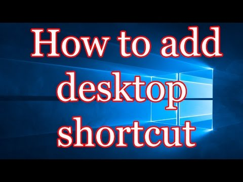 Windows 10 How To Add Desktop Shortcut Of Your Favorite Programs