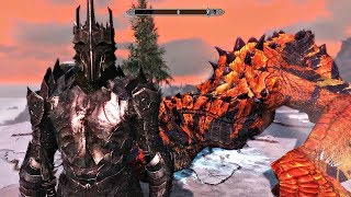 Skyrim mod: Доспехи Саурона / Shadow of Mordor - Sauron's Armor