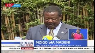 Musalia Mudavadi amtaka Rais Uhuru kuweka bayana hali tete ya madeni Kenya