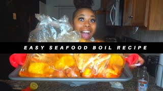 COOK WITH ME: EASY AFFORDABLE SEAFOOD BOIL IN OVEN BAG