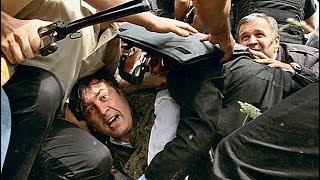 Саакашвили в Гори. EuroNews (2008.08.14)