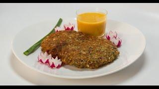Ромштекс в сложной панировке с персиковым соусом | Мясо. От филе до фарша