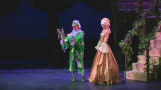Magic Flute Papageno and Pamina running from Monostatos