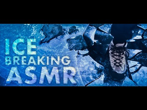 [ASMR] Breaking & Cracking The ICE Of A Frozen Lake (Walking) - ICELAND NATURE