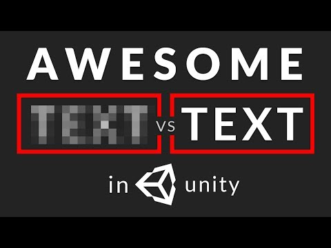 How to make CRISP TEXT in Unity
