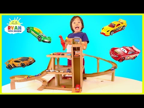 How to Make Cardboard Toy Car Garage Playset with | Youtube Search