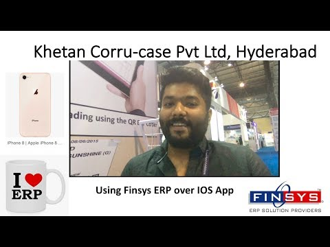 I-phone App by Finsys ERP - Khetan Corru Case Hyderabad Loves it