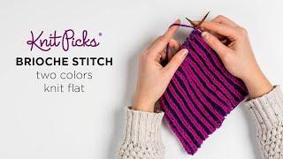 Learn Brioche Two Color Flat