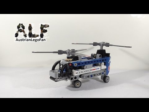 Vidéo LEGO Technic 42020 : L'hélicoptère bi-rotors