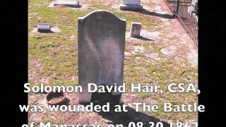 Hair Family Cemetery Barnwell County SC and Hair Historical Records