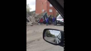 Авария на улице Жамбыла...остановка ДЮСШ 15.05.2016