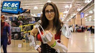 Emma Pool does her best Shredder impersonation at Atlantic City Boardwalk Con 2016