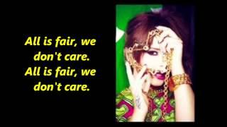 Cheryl - All Is Fair (Lyrics)