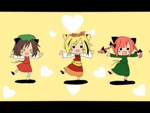 【Touhou】 3 Neko Sisters on Drugs 【東方】 (видео)