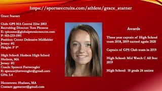 Grace Starner 2021 Soccer Highlight Video 2019