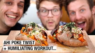 Sweet Potato Jacket & Hawaii Tuna Steak ft. TheLeanMachines by Alex French Guy Cooking
