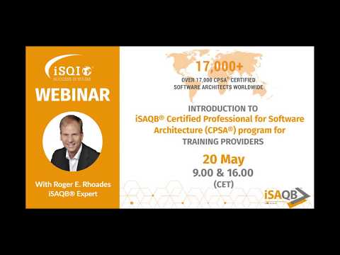 Introduction to the iSAQB® CPSA® certification program for Training ...