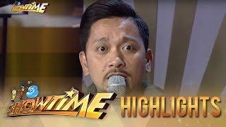 Jhong Hilario teaches BidaMan JR to act on cam  | It's Showtime
