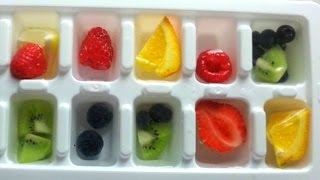 FRUITY ICE CUBES (How To Make, Simple!)