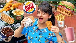I only ate BURGER KING for 24 HOURS Challenge | Food Challenge