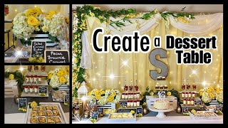 🌼 How To Create A Dessert Table 🌼