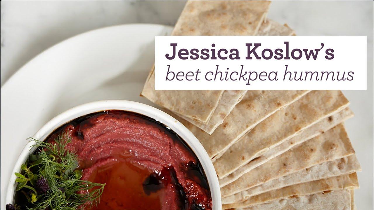 Jessica Koslow's beet chickpea hummus recipe