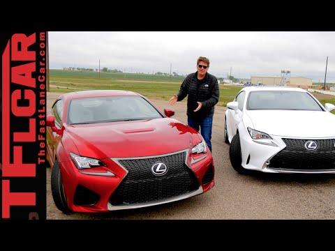 2015 Lexus RC F vs RC 350 F Sport Drag Race & 0-60 MPH Mashup Review