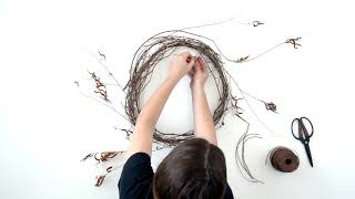 How To Make A Dried Floral Wreath
