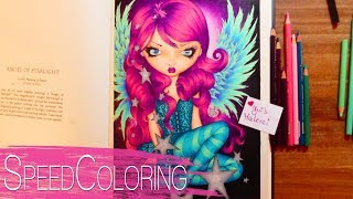 Coloring Angel Of Starlight | A Fantasy Art Adventure | Jasmine Becket Griffith