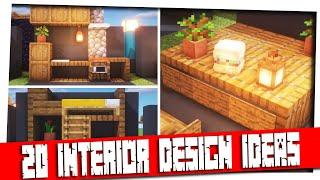 Minecraft - 20  Interior Decoration Ideas And Designs! [Inspiration & Tips]