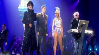 Pet Shop Boys Ft. Lady GaGa & Brandon Flowers   2009 BRIT Awards Perfomance