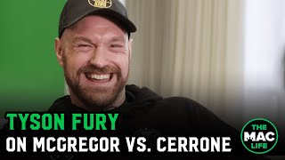 Tyson Fury on Conor McGregor vs. Donald Cerrone, selling 'w*nk lotion' and Deontay Wilder rematch