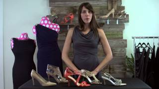 What Color Shoes Go Best With a Navy Bridesmaid's Dress? : Bridesmaid Dresses