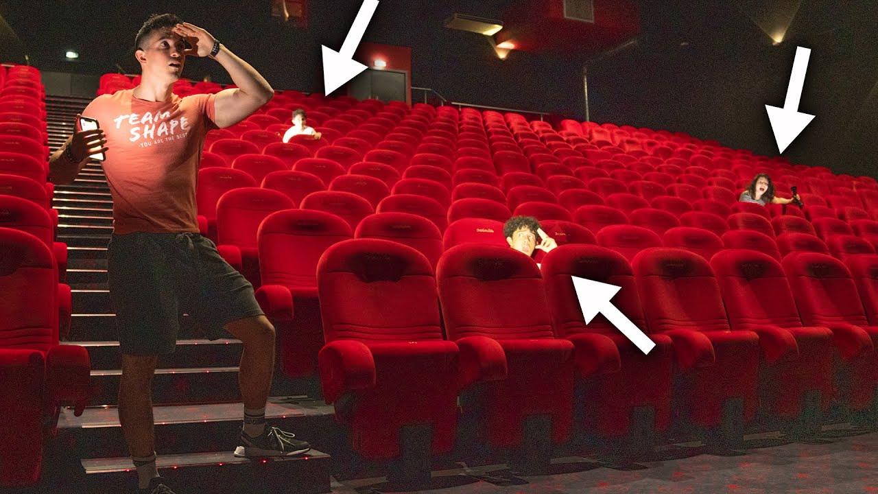 Cache-cache géant dans un cinéma !! (en famille)