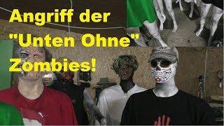 Zombies mit blanken Hintern vs. Spielzeug-Pfeilwaffen