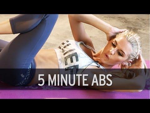 5 minutter mage-trening