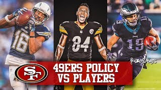 """Live! 49ers Seek """"High Character Players"""" Antonio Brown Price Will Be High"""