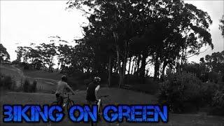Biking on green