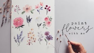 Every Watercolor Flower Youll Ever Need!