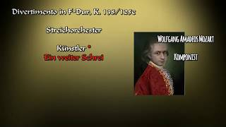 Wolfgang Amadeus Mozart # Divertimento in F major, K.138/125c # Streichorchester #