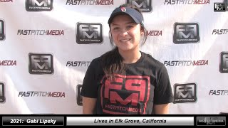 2021 Gabi Lipsky - 4.0 GPA - Athletic Middle Infielder and Outfield Softball Skills Video